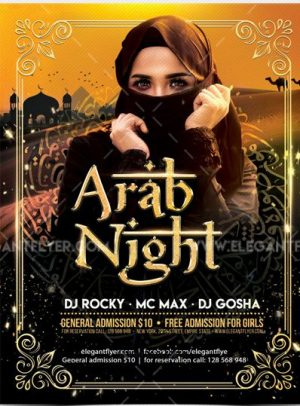 Arab Night Party – Free Flyer PSD Template