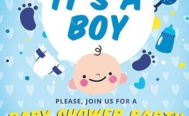 Baby Boy Shower FREE PSD Flyer Template