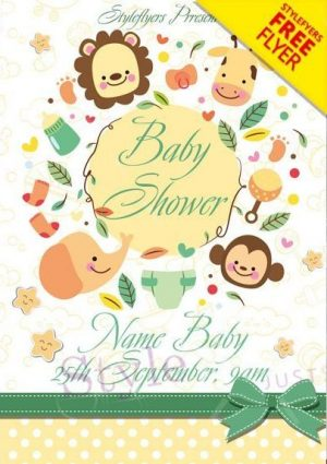 Baby Shower FREE PSD Flyer Template