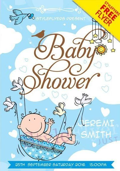 Baby Shower Flyer FREE PSD Flyer Template - PSDFlyer