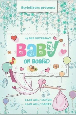 Baby on Board Free PSD Flyer Template
