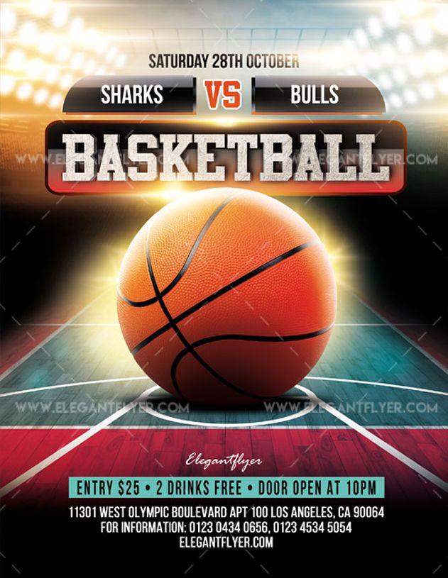 Basketball – Free Flyer PSD Template