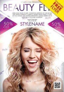 Beauty  FREE PSD Flyer Template