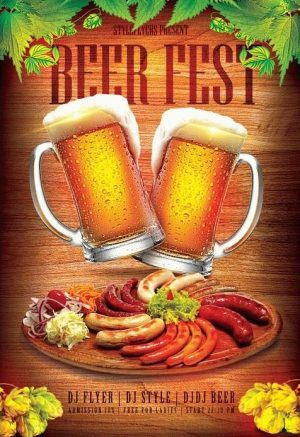 Beer Fest FREE PSD Flyer Template