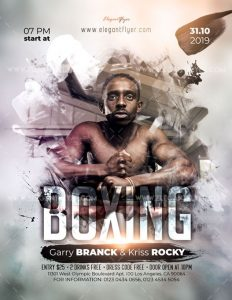 Boxing Event – Free Flyer PSD Template