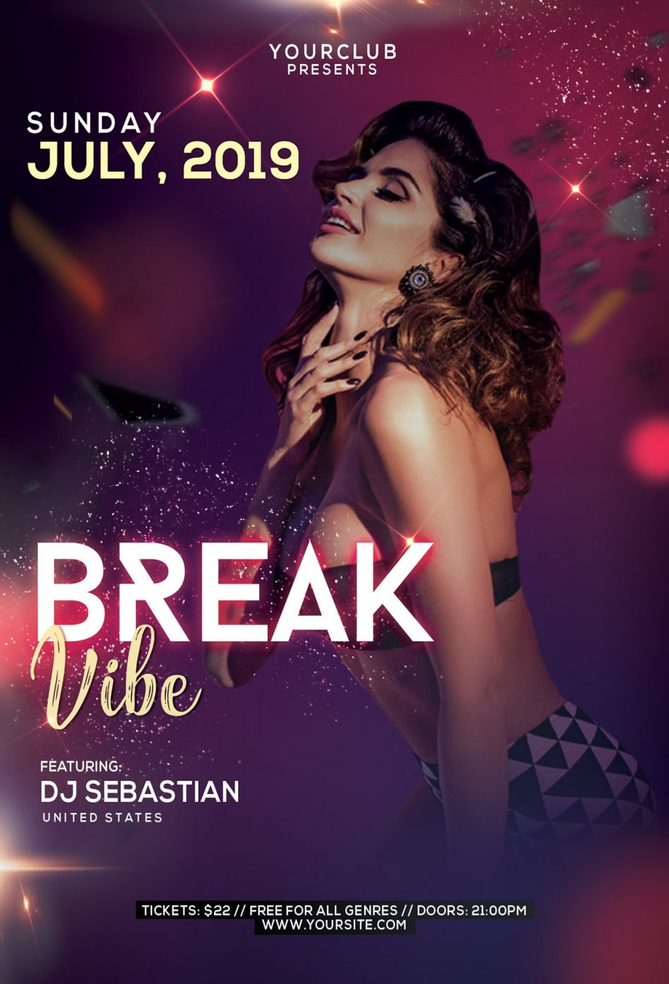 Break Vibe Free PSD Flyer Template download