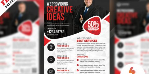Business Marketing Free PSD Flyer Templates