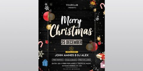 Christmas Event Free PSD Flyer Template