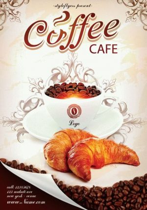 Coffe Cafe FREE PSD Flyer Template
