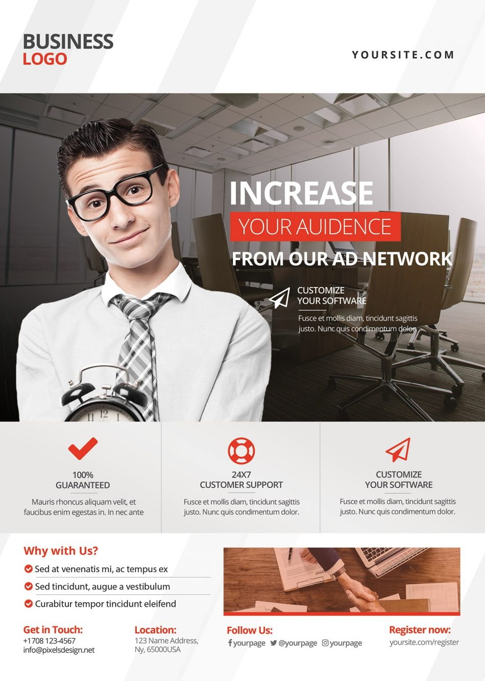 Corporate Business Free PSD Flyer Template