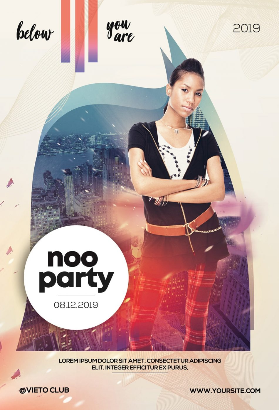 DJ Party Free PSD Flyer Template
