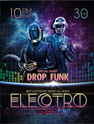Electro night – Free Flyer PSD Template