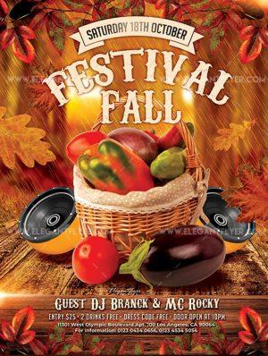 Fall Festivals – Free Flyer PSD Template