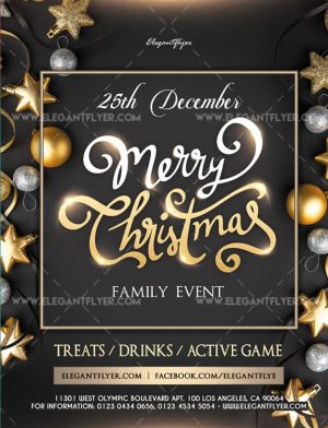 Family Christmas Event FREE PSD Flyer Template