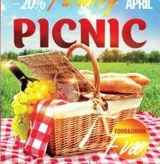 Family Picknic FREE PSD Flyer Template