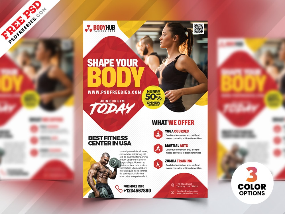 Fitness Gym Free PSD Flyer Template