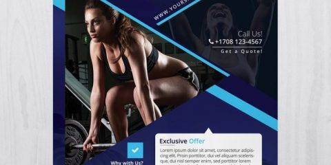 Fitness and Gym – Free Photoshop PSD Flyer Template