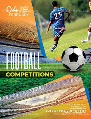 Football Competitions Free Flyer PSD Template