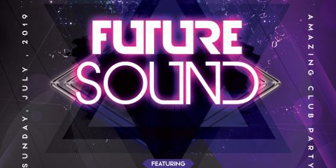 Future Sound – Free Futuristic PSD Flyer Template