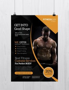 Get Into Shape – Free Fitness PSD Flyer Template