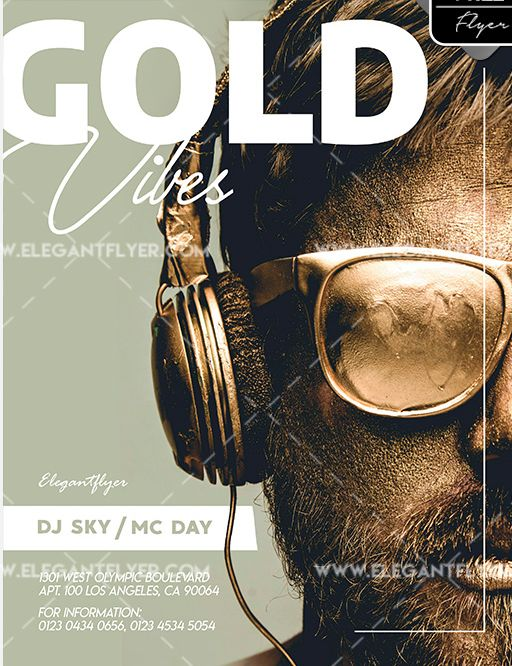 Golden Vibes Free PSD Flyer Template