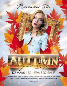 Good Bye Autumn – Free Flyer PSD Template