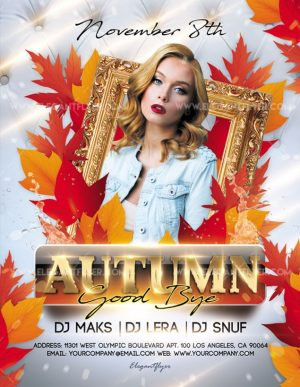 Good Bye Autumn – Free Flyer PSD Template