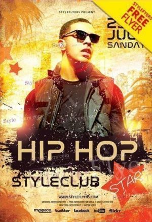 Hip Hop Star FREE Flyer PSD Template