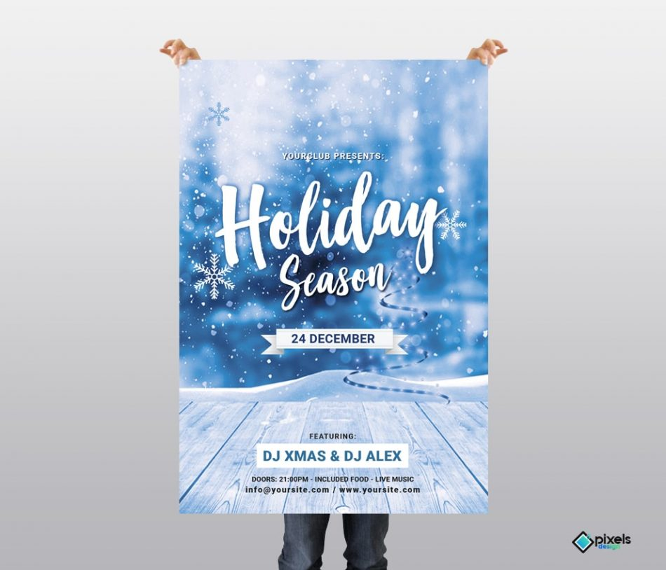 Holiday Season – Christmas Free PSD Flyer Template