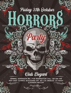 Horrors Party – Free Flyer PSD Template