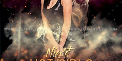 Hot Girls Night Free Flyer PSD Template