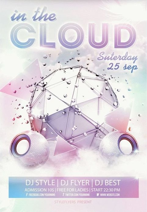 In the Cloud FREE PSD Flyer Template