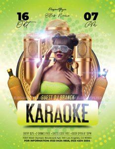 Karaoke – Free Flyer PSD Template