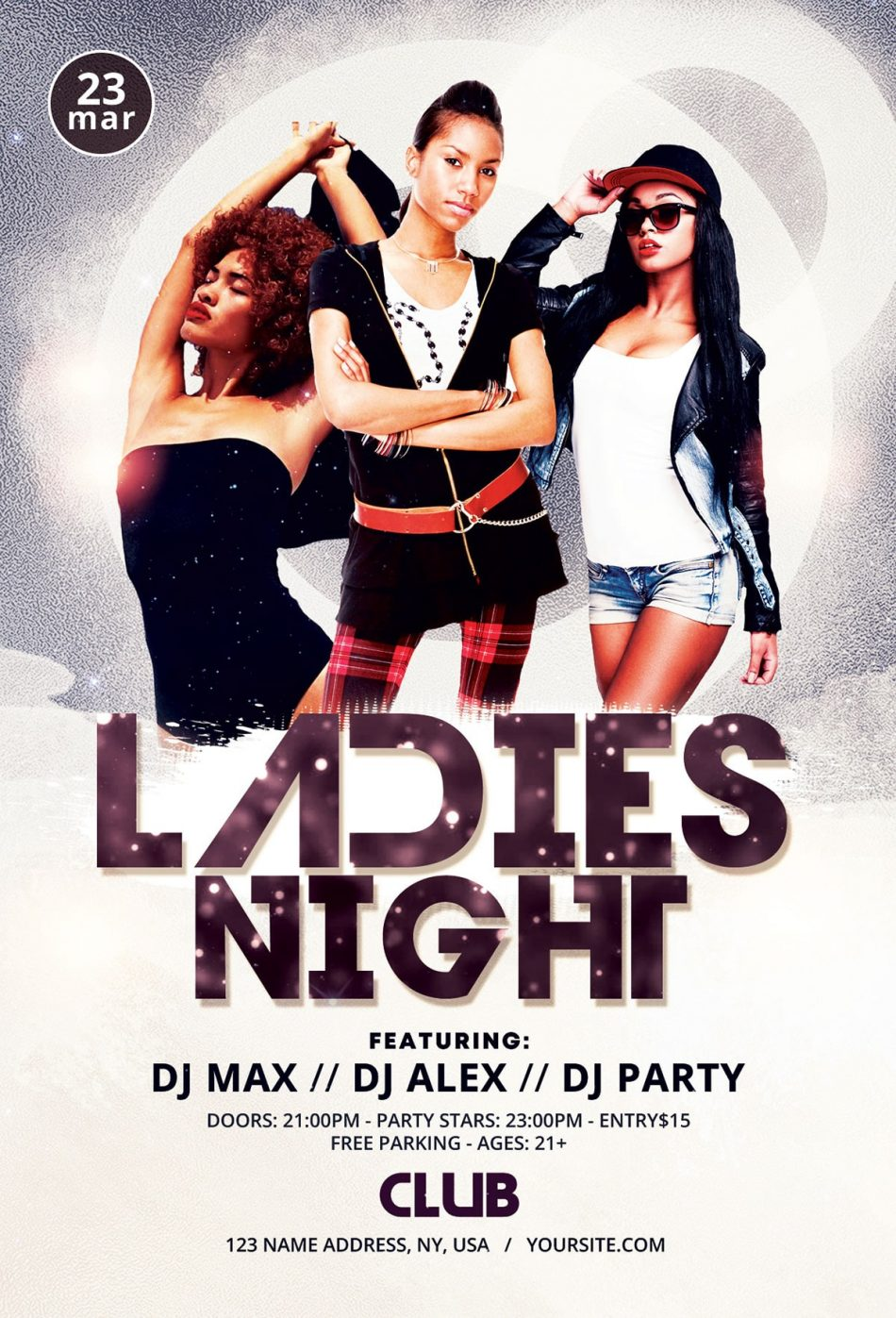 Ladies Night Free Psd Flyer Template Download Psdflyer Co