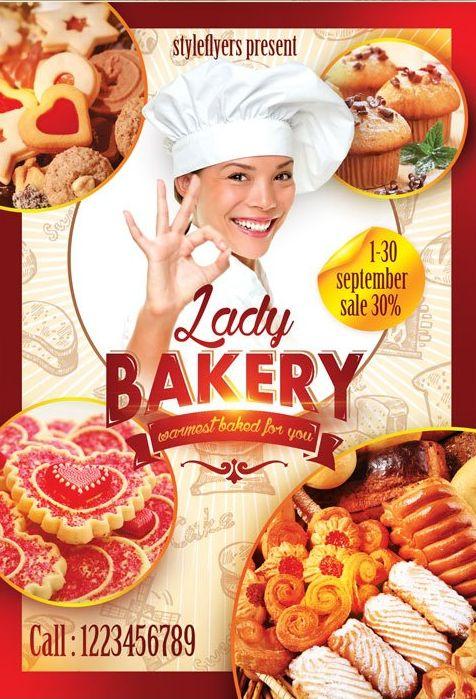 Lady Baker FREE PSD Flyer Templante