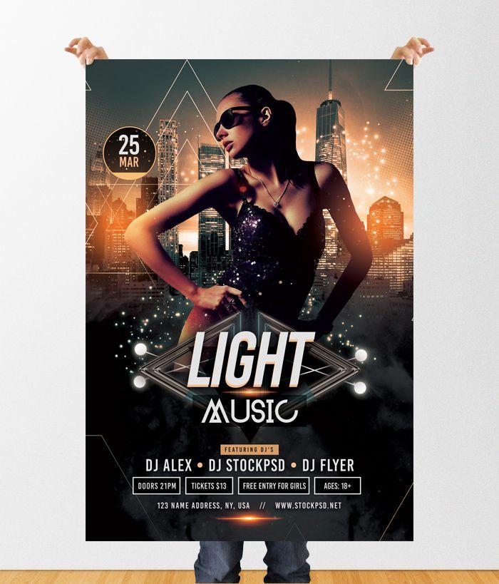 Light Music Free PSD Flyer Template