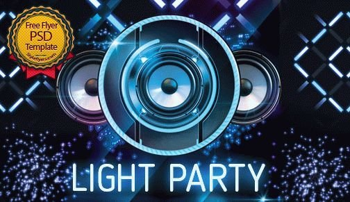 Light Party FREE PSD Flyer Template