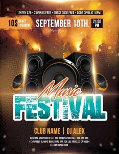 Music Festival Free PSD Flyer Template