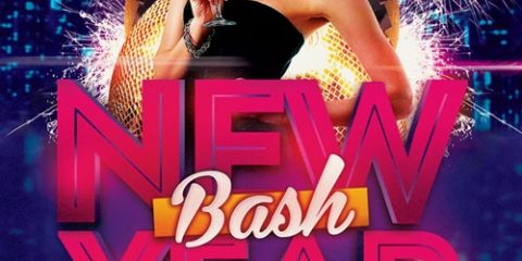 New Year Bash Free PSD Flyer Template
