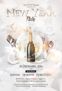 New Year Eve Party – PSD Free NYE Flyer Template