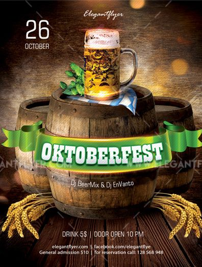 October Fest – Free Flyer PSD Template
