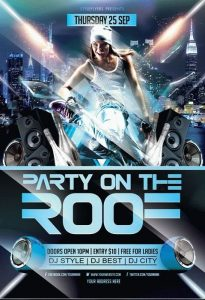 Party on the Roof FREE PSD Flyer Template