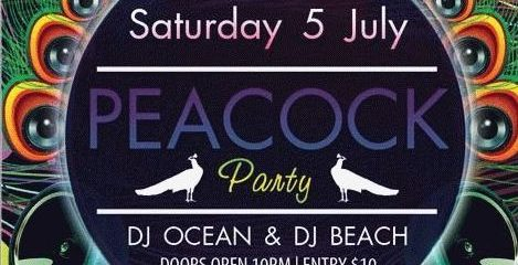 Peacock Party FREE PSD Flyer Template