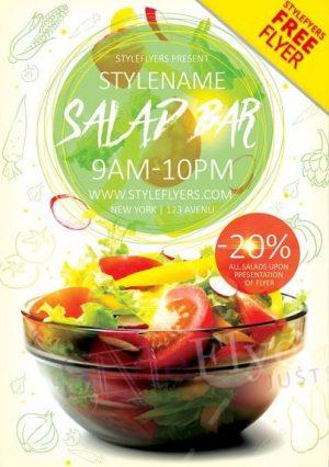 Salad Bar FREE PSD Flyer Template