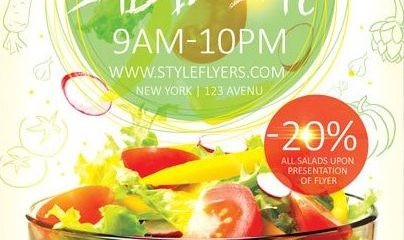 Salad Bar FREE PSD Flyer Template