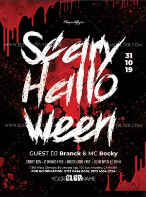 Scary Halloween – Free Flyer PSD Template