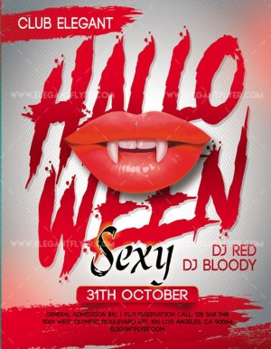 Sexy Halloween – FREE Flyer PSD Template