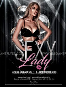 Sexy Lady's Night Free PSD Flyer Template