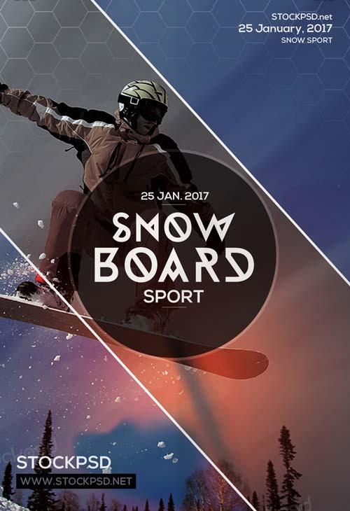 Snowboard Ski Free PSD Flyer Template