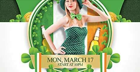 St. Patrick's Special Free PSD Flyer Template